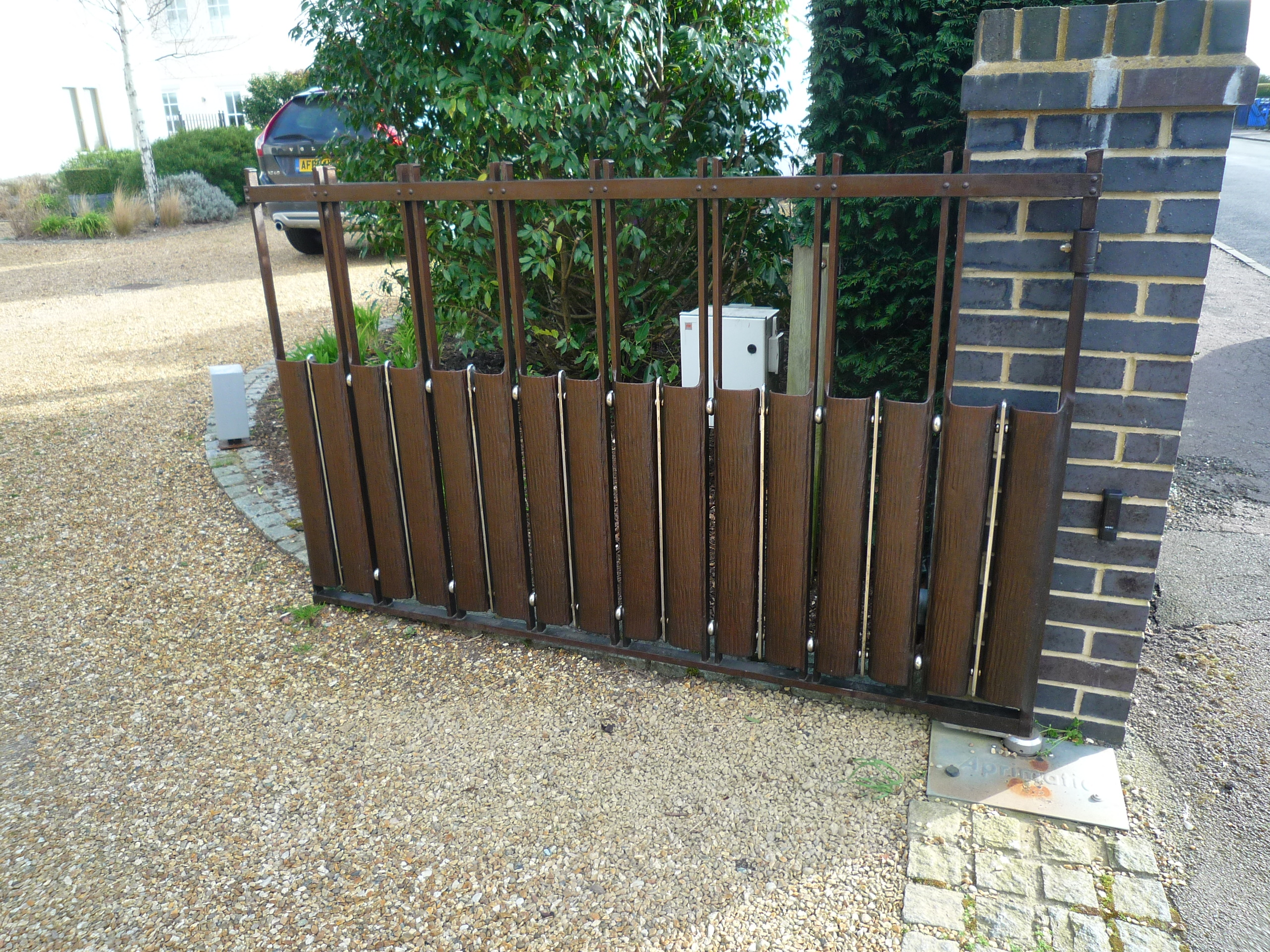 Contemprary Wrought Iron Driveway Gates By Topp & Co