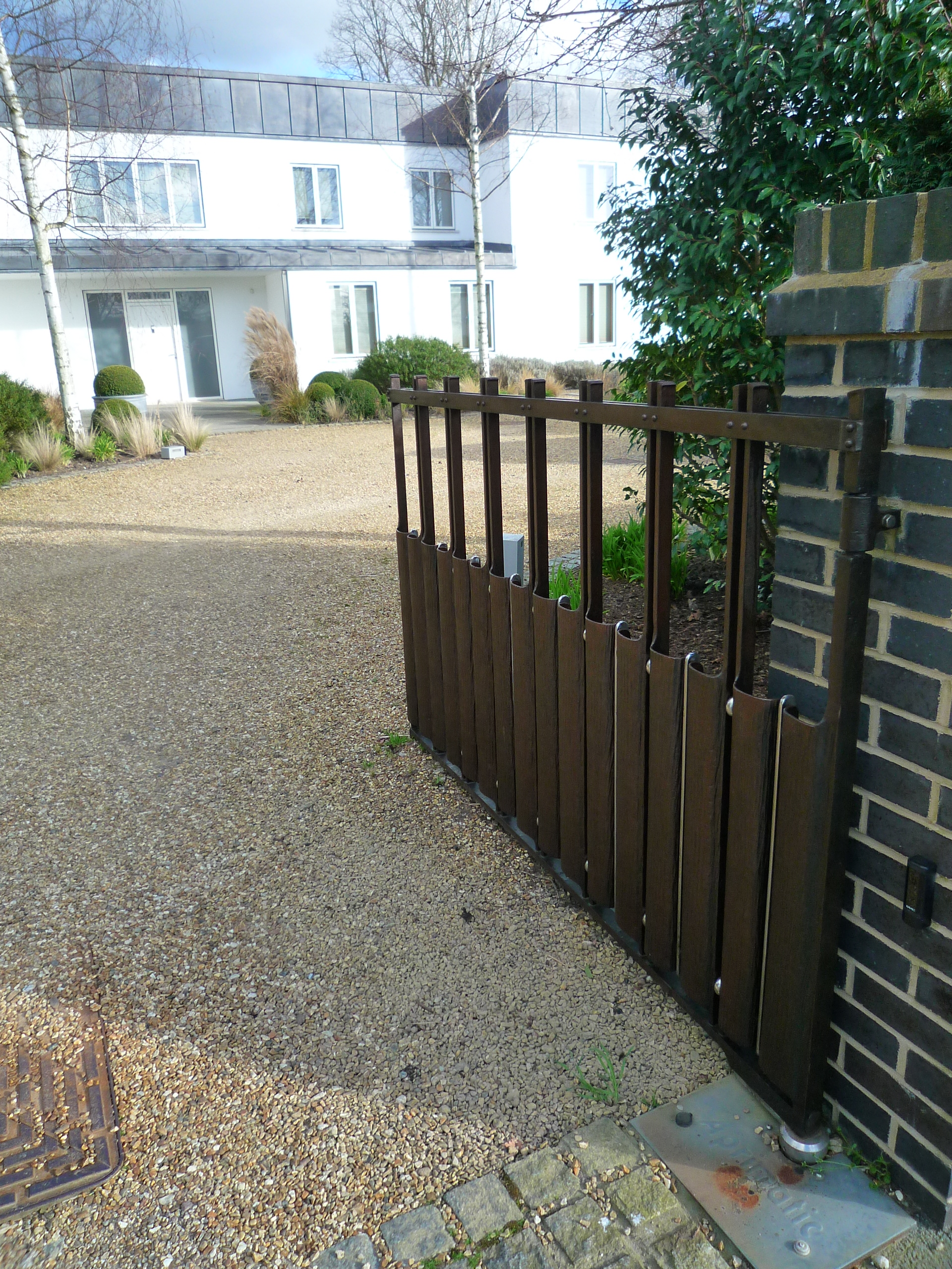 Contemprary Wrought Iron Driveway Gates By Topp Amp Co
