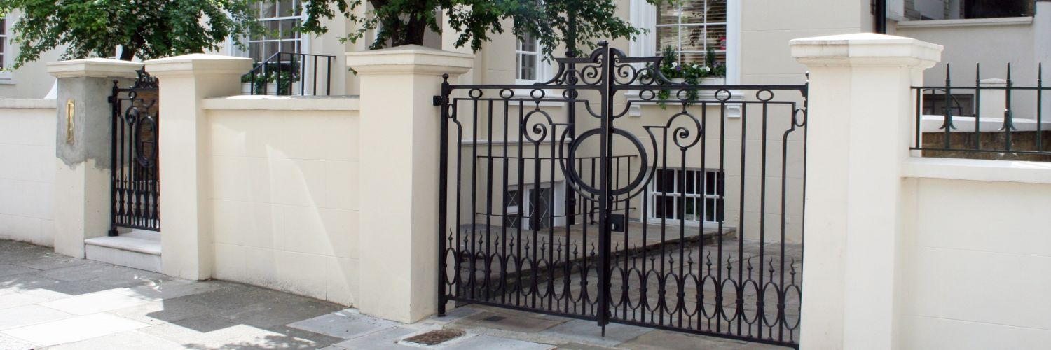 These entrance gates were traditionally made using genuine wrought iron