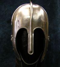 Wrought iron helmet by Heron Armoury